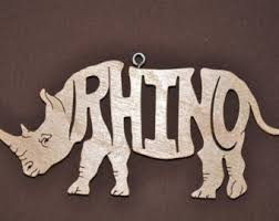 rhinoceros ornament etsy