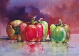 tina bohlman fine art watercolor u0026 oil peppers