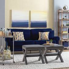 Living Rooms With Blue Couches by Navy Blue Sofa Wayfair