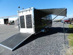 Enclosed Trailer Awning For Sale Atc 7 X 20 Arv Aluminum Toy Hauler Pop Out Bed