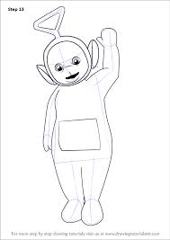 learn draw tinky winky teletubbies teletubbies step