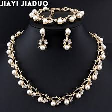 diamond pearl necklace set images Jiayi jiaduo crystal pearl jewelry set all4udirect jpg