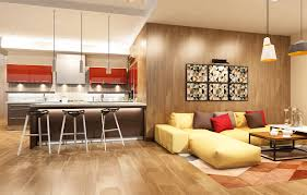 Living Room Wallpaper Gallery Image Kitchen Living Room 3d Graphics Interior Lamp Sofa Table