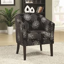 Black Accent Chair Accent Chair In Black And Silver Chenille By Coaster 902093