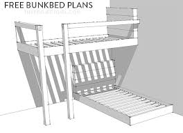 Bunk Bed Plans With Stairs Enchanting Build A Bunk Bed Free Bunkbed Plans How To Design And