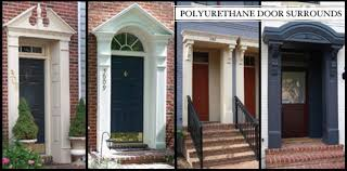 Exterior Door Pediment And Pilasters Architectural Urethane Polyurethane Door Surrounds