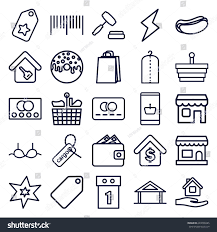 sale icons set set 25 sale stock vector 649090285 shutterstock