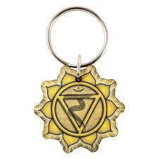 wooden keychain wooden keychain with yellow solar plexus symbol wood chakra