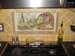 tile murals for kitchen backsplash bounty grosse pudel kitchen backsplash tile mural niche
