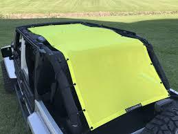 yellow jeep 4 door alien sunshade jeep wrangler extra long full length mesh sun shade