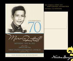 Birthday Invitation Cards Design 70th Birthday Invitations Kawaiitheo Com