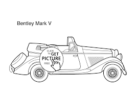 car bentley mark 5 coloring page for kids printable free