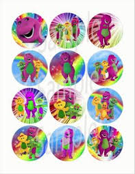 cute personalized barney friends theme design