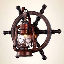 Nautical Wall Sconce Industrial Nautical Wall Sconce With Lantern Style Metal Cage