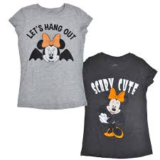 Halloween T Shirts by Disney Minnie Mouse Girls Halloween T Shirts 2 Pack Ebay