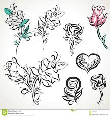 rose of tribal tattoo set stock vector image of decorative 51014220