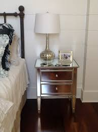 Mirrored Accent Table Mirrored Side Table Pottery Barn And Mirror Pyramid Accent Side