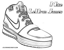 image gallery nba shoes coloring pages