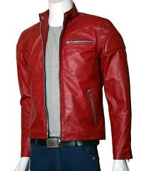 leather racing jacket men u0027s red leather moto jacket u2013 leather jacket showroom