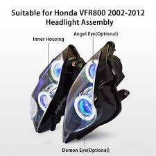 aliexpress com buy kt headlight for honda vfr800 2002 2012 led