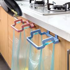 kitchen cabinet hanging rubbish bag holder garbage storage rack