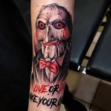 regranned from grizzlietattoo saw jigsaw horror