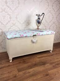 Ottomans Ebay Shabby Chic Ottoman Lloyd Loom Storage Box Cabinet Blanket Vintage
