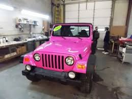 pink jeep rubicon 2002 pink jeep wrangler sport 13 495 http www iseecars com used