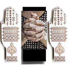 amazon com rose gold henna temporary tattoos jewel henna