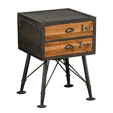 quirky end tables darkside bedside table bedside cabinet vintage industrial and