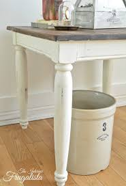 Chalk Paint Side Table A Farmhouse Side Table Makeover The Interior Frugalista A