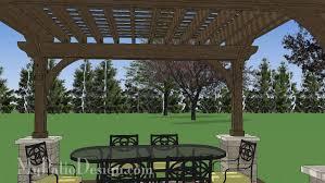 12x14 cedar pergola design with columns downloadable plan