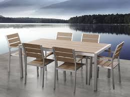 aluminum patio dining set brown vernio