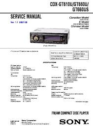 sony car audio service manuals page 30