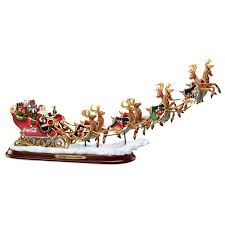 Lighted Sleigh And Reindeer by Amazon Com Coca Cola Night Before Christmas Santa Claus Sleigh