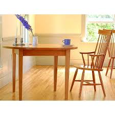 round extension table handcrafted in vt solid wood shaker style