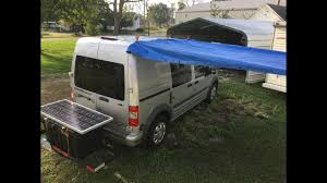 Ford Transit Connect Awning 2010 Ford Transit Connect Diy Camper Van Conversion Final Overview
