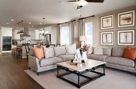 wide open space for entertaining arlington model home great