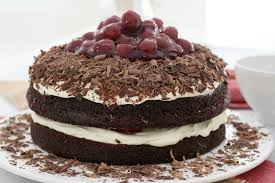 easy black forest cake chocolate cherries u0026 cream bake play smile