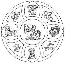Coloriage Mandala Petshop a Imprimer Gratuit  mandale  Pinterest