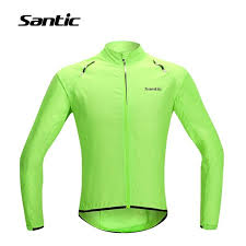 fluorescent cycling jacket men raincoat windproof sun protection fluorescent green long sleeve