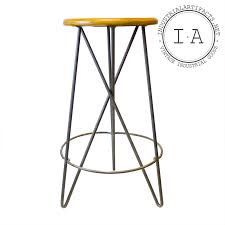 vintage industrial modern minimal hairpin leg bar shop stool chair