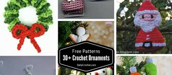 30 free crochet ornaments patterns to decorate your