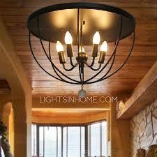 Lighting Fixtures For Bedroom Bedroom Ceiling Light Fixtures In 5 Light Black Wrought Iron