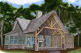 small cottage plans with porches piney creek cottage timber frame house plans 13238