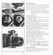 hasselblad 500c m 500 el m swc m instruction manual