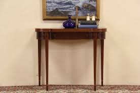 sold console u0026 game table combination banded mahogany 1930 u0027s
