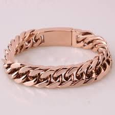rose gold link bracelet images Rose gold quot cuban link quot biker bracelet blown biker jpg