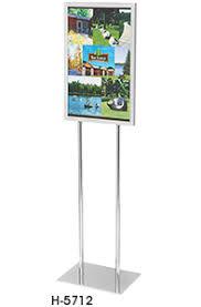 floor standing sign holders in stock uline