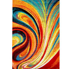 Modern Colorful Rugs 8 X 10 Multi Colored Area Rugs Rugs The Home Depot